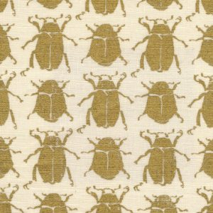 Scarab Gold White Linen